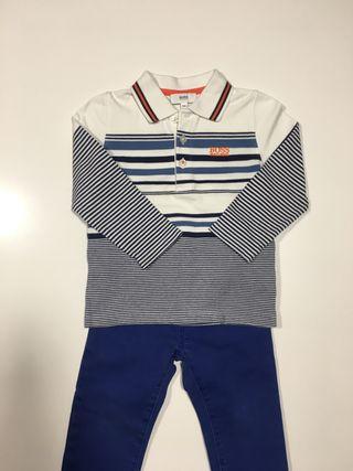 Conjunto de polo Hugo Boss y pantalon Gap talla 2