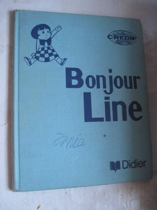 libro Bonjour Line Didier Credif 1971 francés