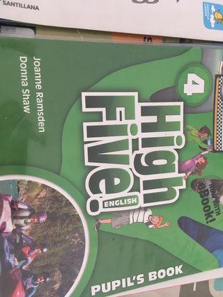 Libro de inglés cuarto de primaria High five