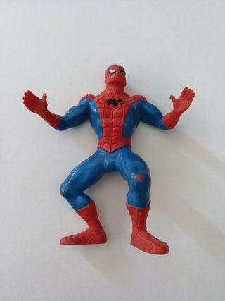 antigua figura de goma o PVC Spiderman Marvel