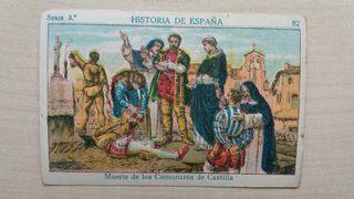 Cromo chocolate Historia de España número 62
