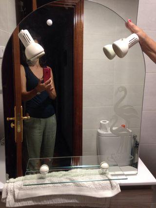 Espejo baño con 2 luces