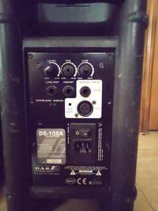 "2x Altavoces DAS DS-108A. cajas activas 150W. 8""."