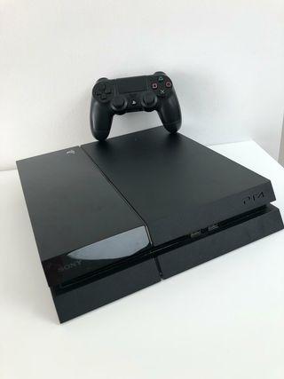 PlayStation 4 (500gb) + Mando + 8 juegos