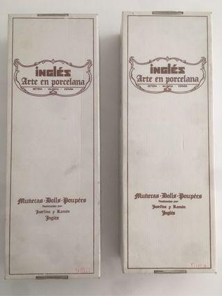 Muñecos Porcelana Josefina y Ramón Inglés