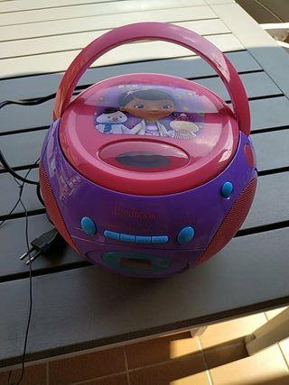 Radio CD infantil doctora juguetes
