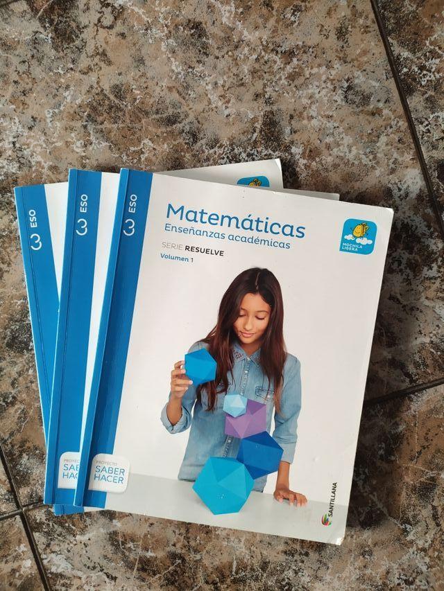 Libros de matemáticas de 3 Eso