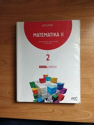 Libro Matematika 2 euskera segundo de bachillerato