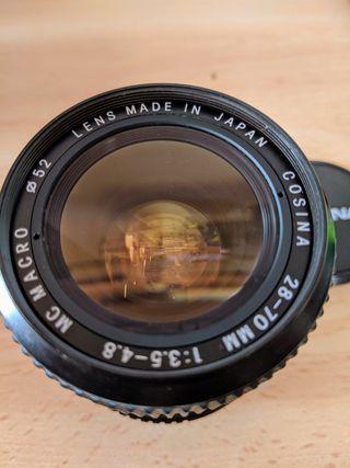 Objetivo Nikon Cosina 28-70mm . Ideal Sony o Fuji!