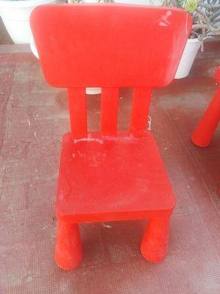Mesa y silla infantil de Ikea