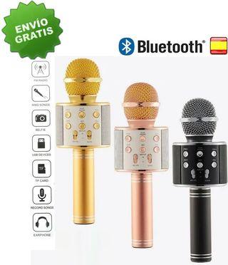 Microfono inalambrico con altavoz bluetooth