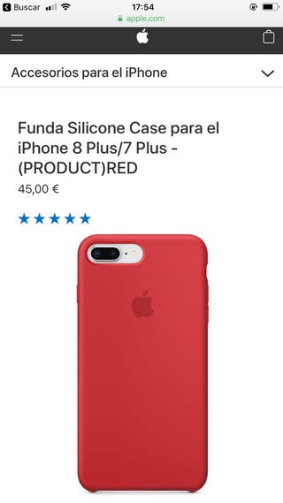 Funda de silicona case iPhone 8plus/7plus apple