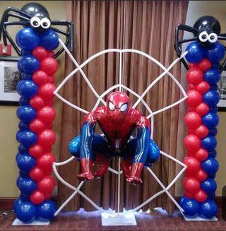 decoración con globos para los cumple de tus pequ