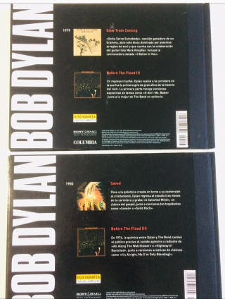 4 Discos oficiales de BOB DYLAN y 2 libros