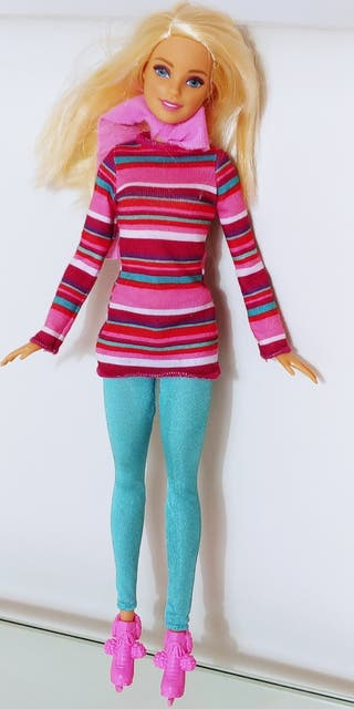 muñeca barbie exclusiva con patines