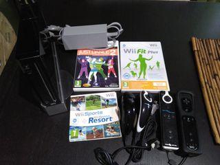 Consola Wii nueva+ 3 juegos+ 2 mandos+ 2 joystick