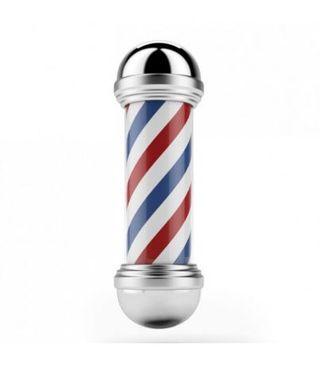 Poste Barbero Cromado * Nuevo