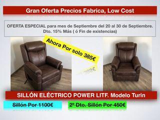 Liquidación SILLÓN ELÉCTRICO POWER LITF TURIN 385€