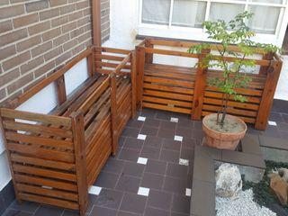 Porta jardineras de madera