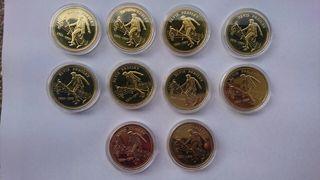 lote de monedas Elvis Presley