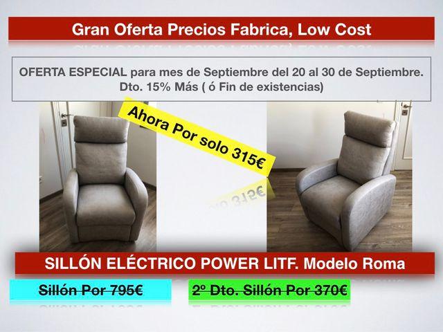 Liquidación SILLÓN ELÉCTRICO POWER LITF. ROMA 315€
