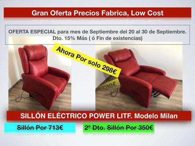 Liquidación SILLÓN ELÉCTR.POWER LITF.MOD.MILAN 298