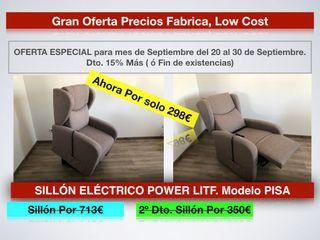Liquidación SILLÓN ELÉCTRICO POWER LITF. PISA 298€