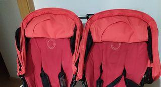 dos capotas ventiladas bugaboo rojo