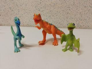 Muñecos de la serie Dinotren