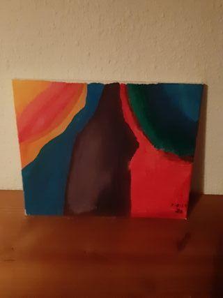Cuadros de óleo pintado en tela rugosa