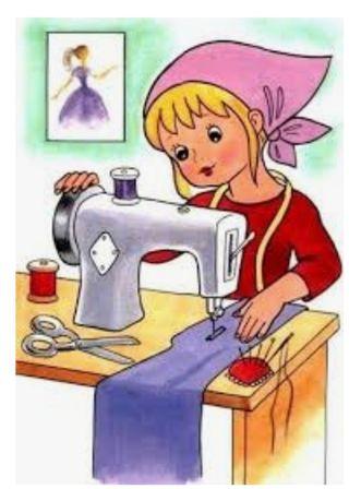 Trabajo costurera máquina industriales