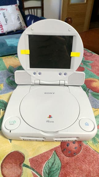 PlayStation Psone+pantalla+funda+mando+cables+++