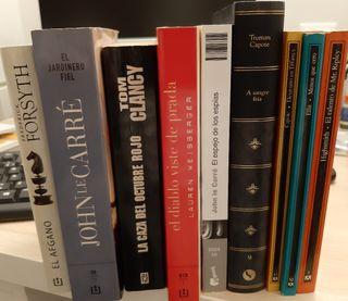 lote novela intriga y demás 8 libros