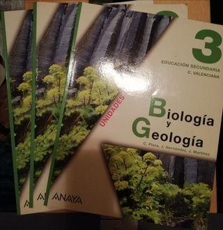 Libros de Biología y Geología 3°Educ. Secund.