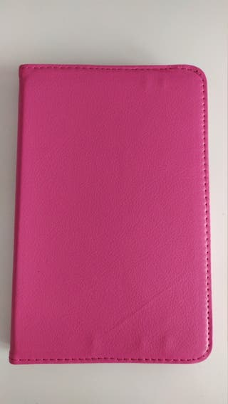 Funda Ipad/Tablet de cuero Rosa fuxia