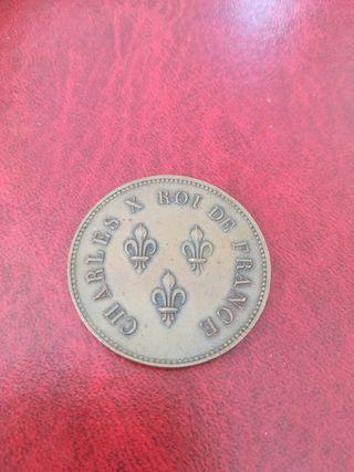 Moneda medalla 5 francs