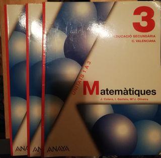 Lote Libros Matemátiques 3° Educación Secundaria