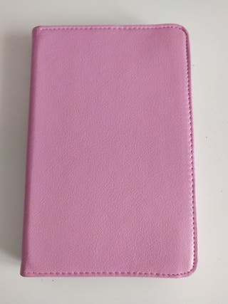 Funda Ipad/Tablet de cuero rosa pastel