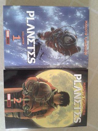 Planetes volumen 1 y volumen 2. Tomos manga