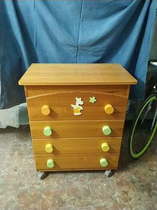 Mueble Cambiador de madera