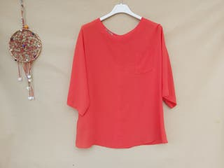Uterque blusa color coral Talla S