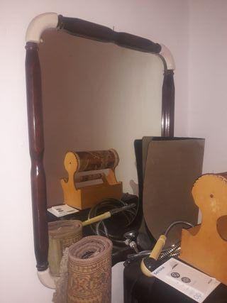 Espejo filo de madera