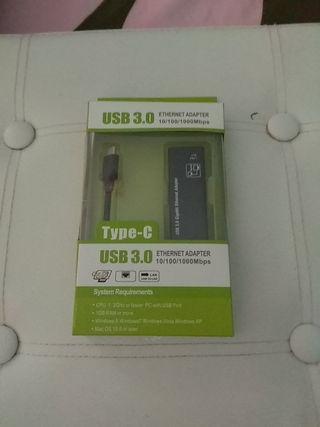 Adaptador USB C a Gigabit Ethernet / Rebajado