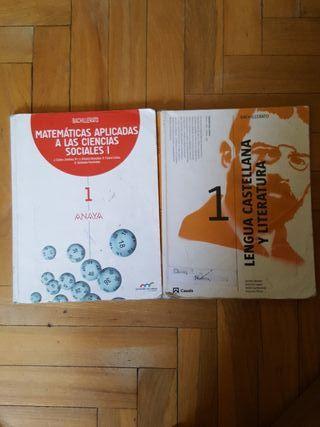 Libro de Matemáticas y Lengua Castellana 1 de bach