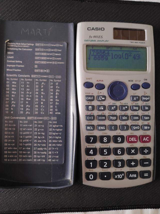 Calculadora Casio fx-991ES natural display