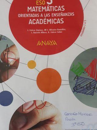 matematicas 3 eso ANAYA UNIDADES 1 A 5