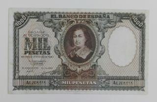 billete de 1000 pesetas de 1940