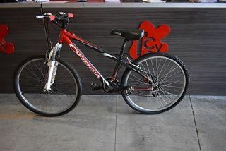 Bicicleta Orbea 26 pulgadas negra roja suspension