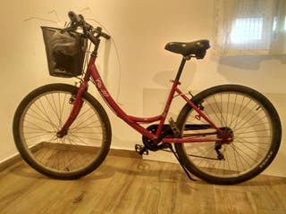 Bicicleta adulto city40 roja