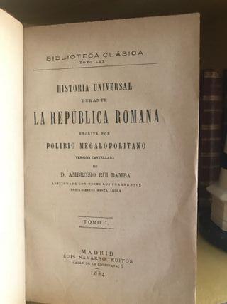 Historia Universal durante la Republica Romana